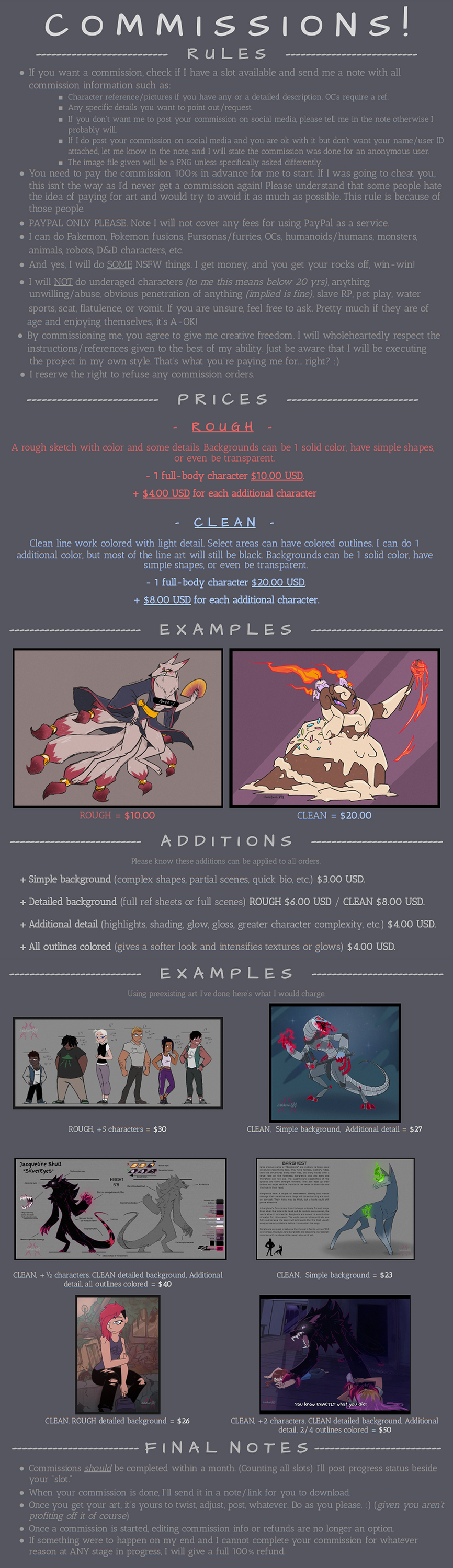 Commissions Info! [OPEN]
