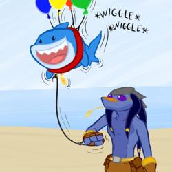 Walkin' Little Shark!