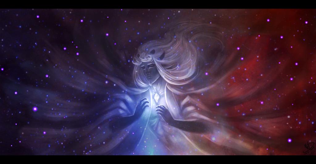 Starry nebula