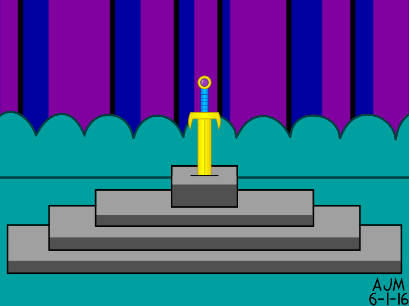 Golden Sword in the Pedestal
