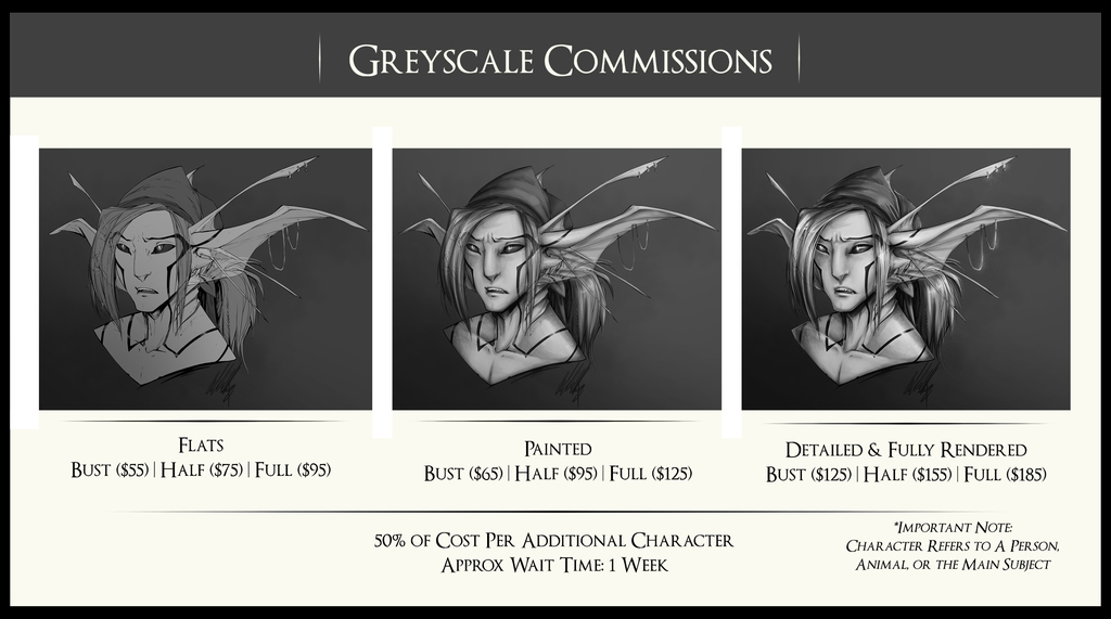 Greyscale Commissions