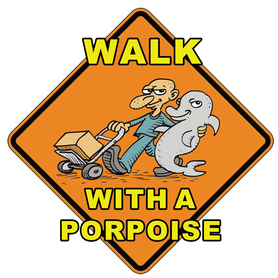 Walk with a porpoise!