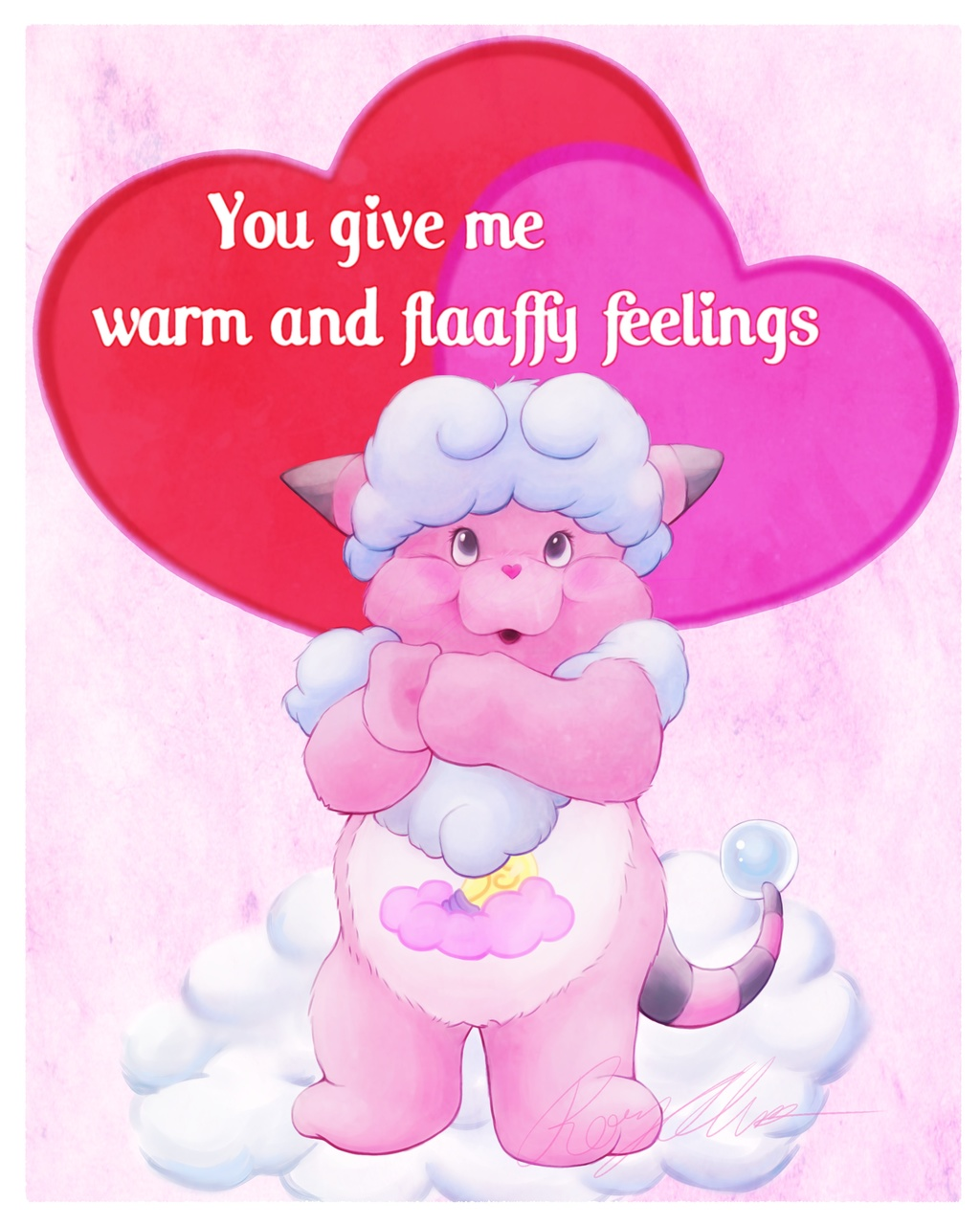 Flaaffy Feelings Pokarebear card