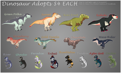 Adopt - Dinosaur Batch #1 - SOLD