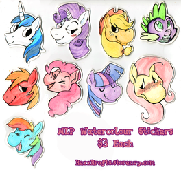 MLP Watercolor Stickers