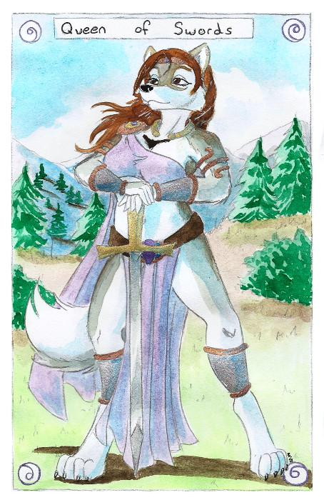 Tarot Sample - Queen of Swords
