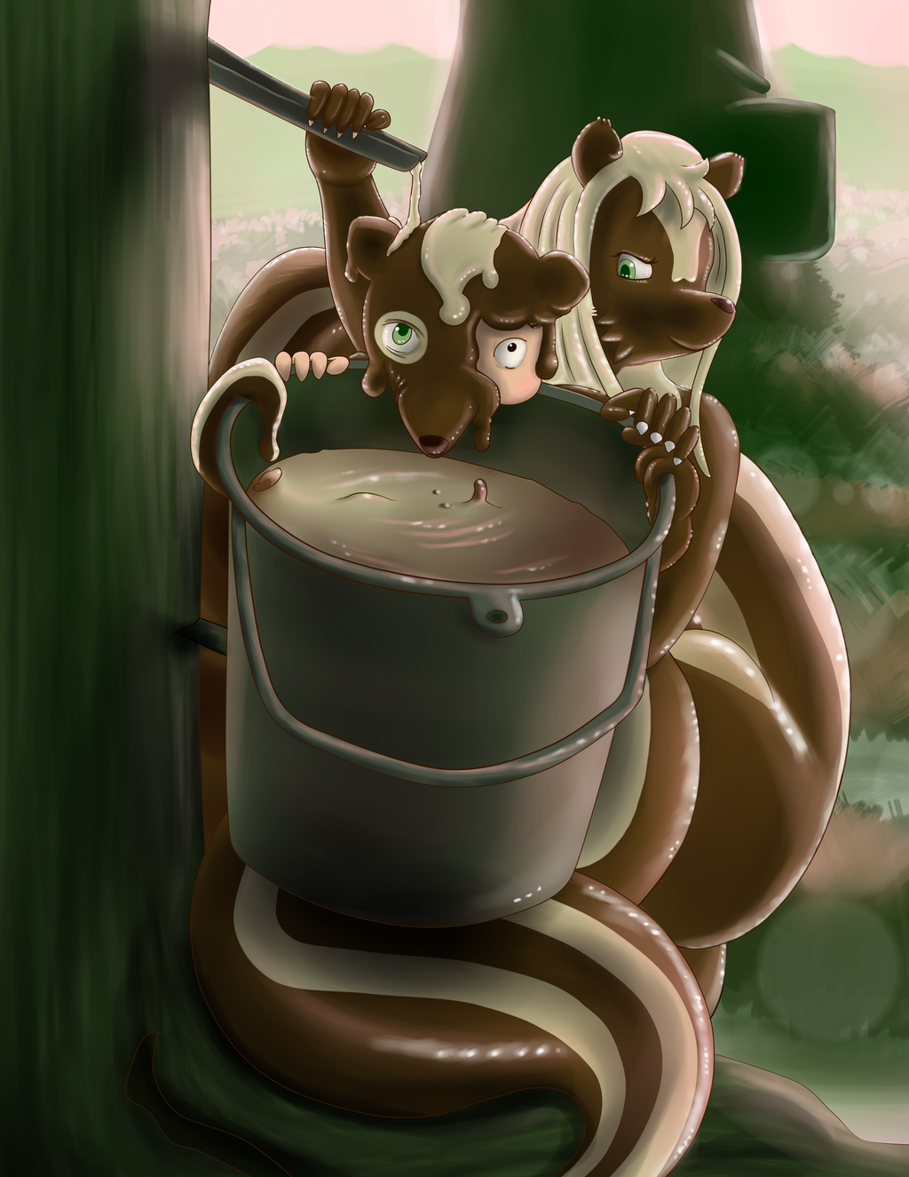 Skunk Dunked -- Rubber Skunk Transformation
