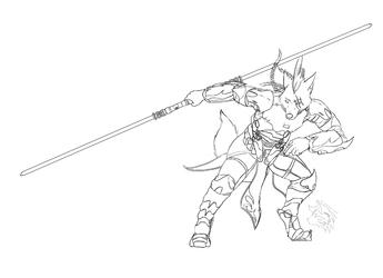 [CM-RedFox] Character Line Art