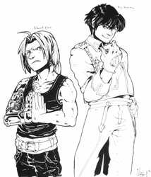 Edward Elric and Roy Mustang