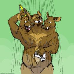 Cerboarus Showering