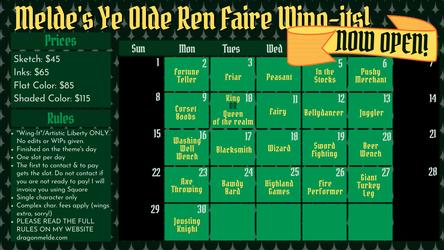 Ye Olde Ren Faire Wing-its are OPEN