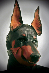 Dobermann Leather Mask