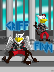 AHL MAX Series Number 17 of 30: Griff & Finn - Grand Rapids Griffins
