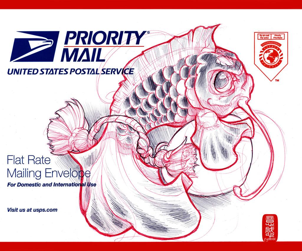 Fydbac commission - Envelope Embellishment