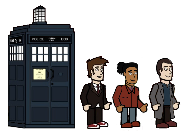 the 10th doctor and his friends from season 3