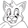 Cute Foxie badge backside