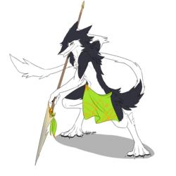 Handsome Spear-posin'