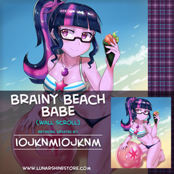 Brainy Beach Babe by iojknmiojknm