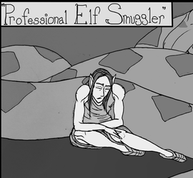 Professional Elf Smuggler--B&W Short-Comic--1