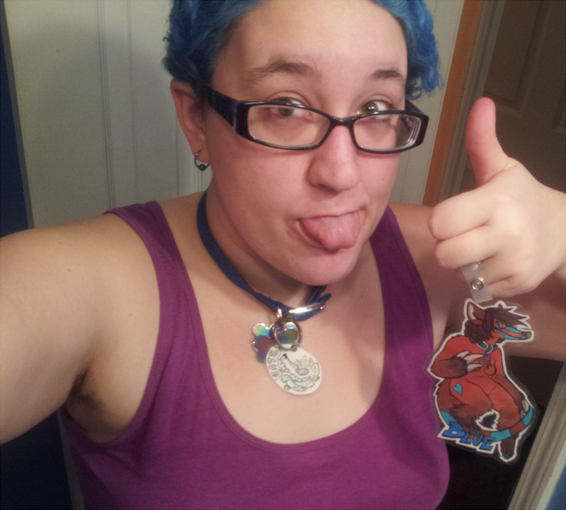 Look for this blue-haired dork at FWA!
