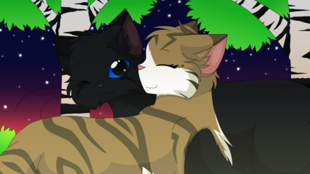 Crowfeather X Leafpool - meeting in Twilight