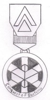"""DE """"Conquest of Danterrin"""" Medal"""