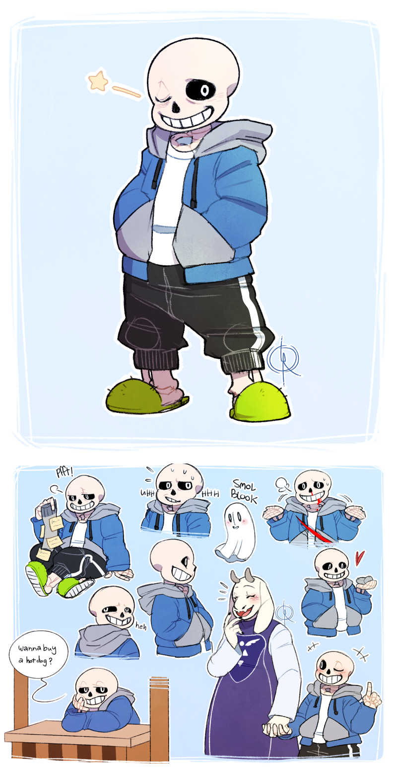 Undertale Sans The Skeleton SPOILER WARNING Weasyl - Skeletons favourite childhood cartoon characters