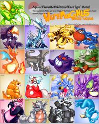 Favorite Pokemon by Type