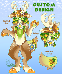 Floral Spotted Deer Custom Design