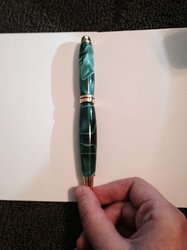 Acrylic Green Pen for my Brother 2