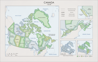 Worldbuilding Map: Canada in 110 AT