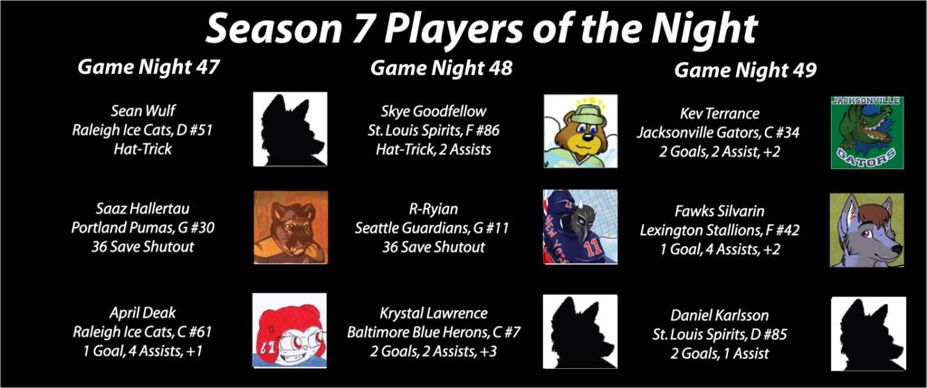 FHL Season 7 Game Nights 47-49