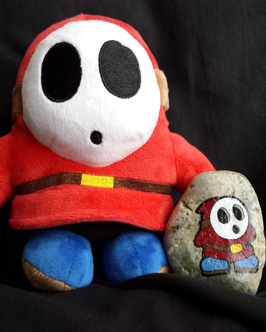 Painted Shy Guy Rock