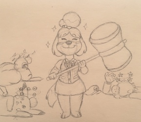 Isabelle joins SMASH BROS.