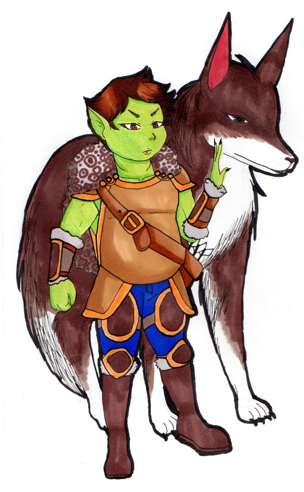 Taabu Thunderfoot the Half-Orc Ranger