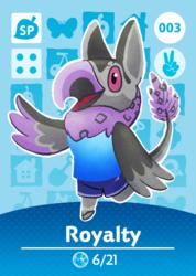 Animal Crossing Amiibo Card: Royalty