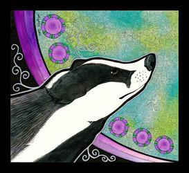 'European Badger as Totem' by Ravenari