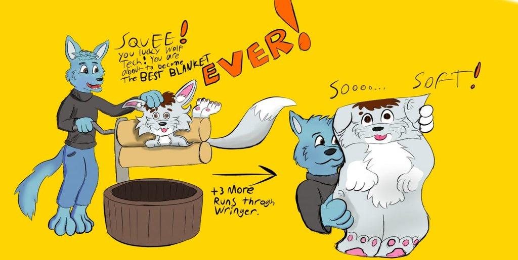 The AMAZING fluffwolf blanket!