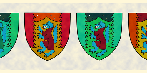 Blue Wolf Crests