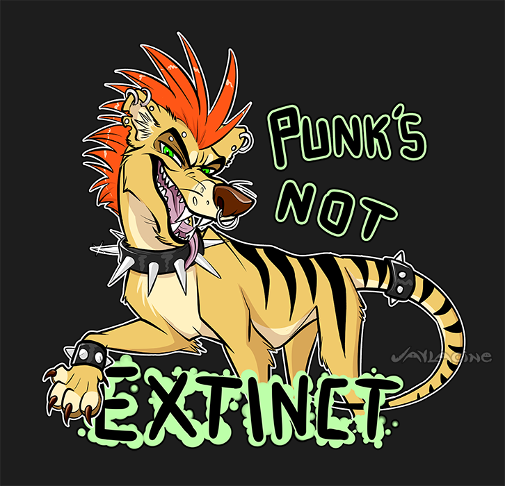 Most recent image: Punk thylacine - Available on T-shirt!