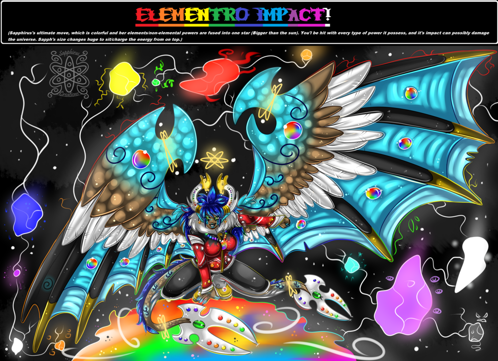 Elementro Impact +Sapphirus's ultimate move+