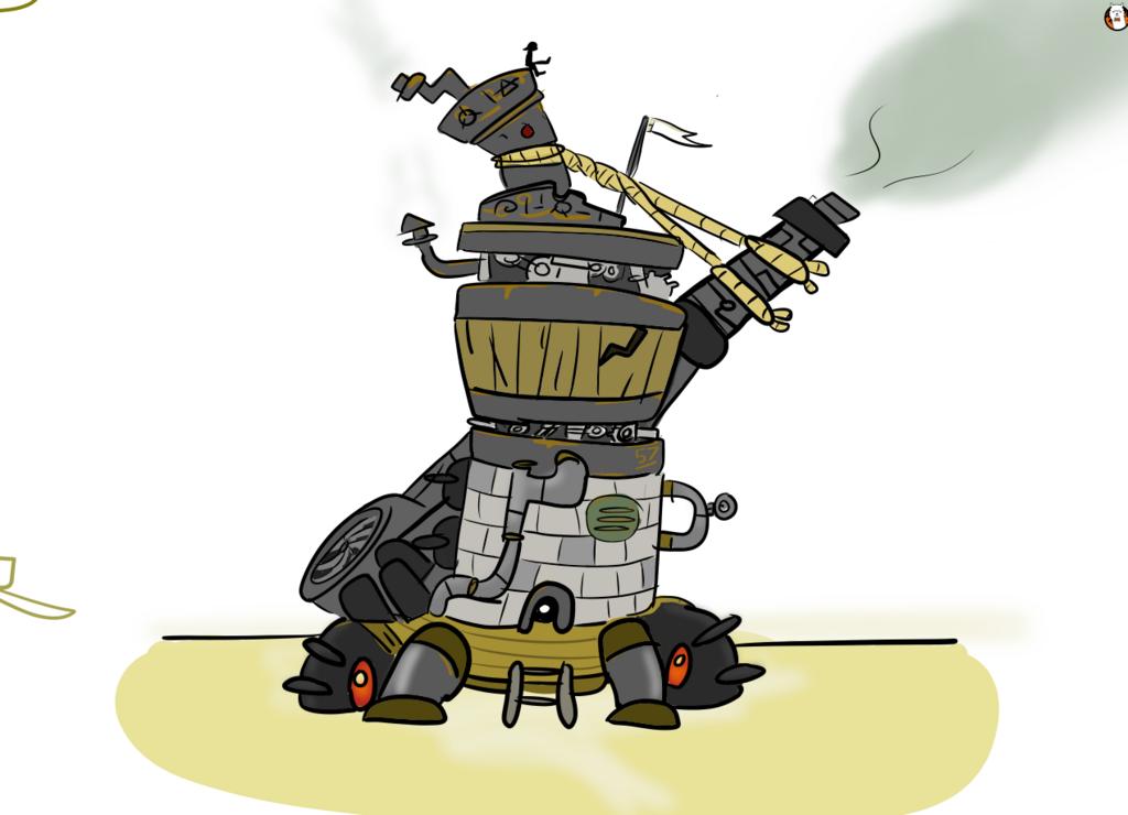 Junk Tower Concept Art