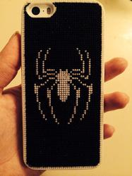 Cross-Stitched Spiderman iPhone 5/5S Case