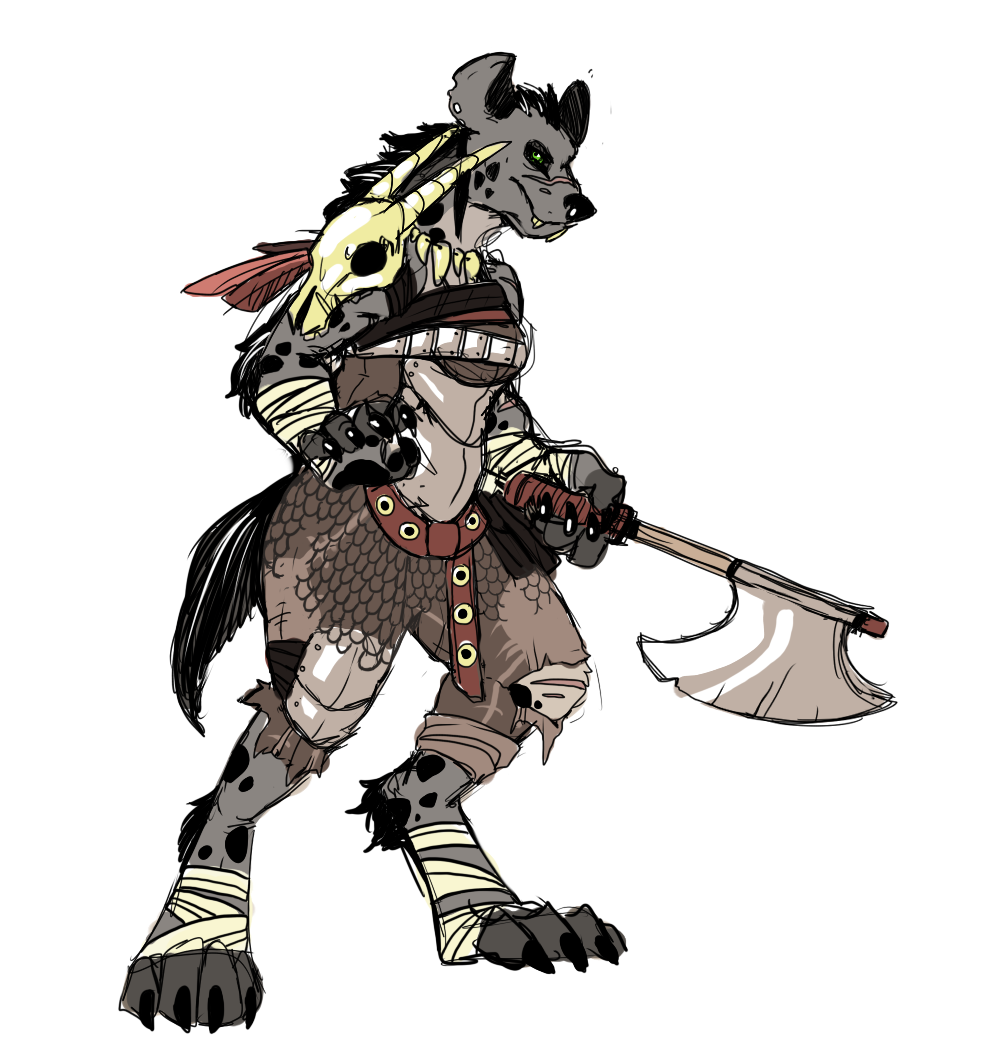 Featured image: A Gnoll Lady