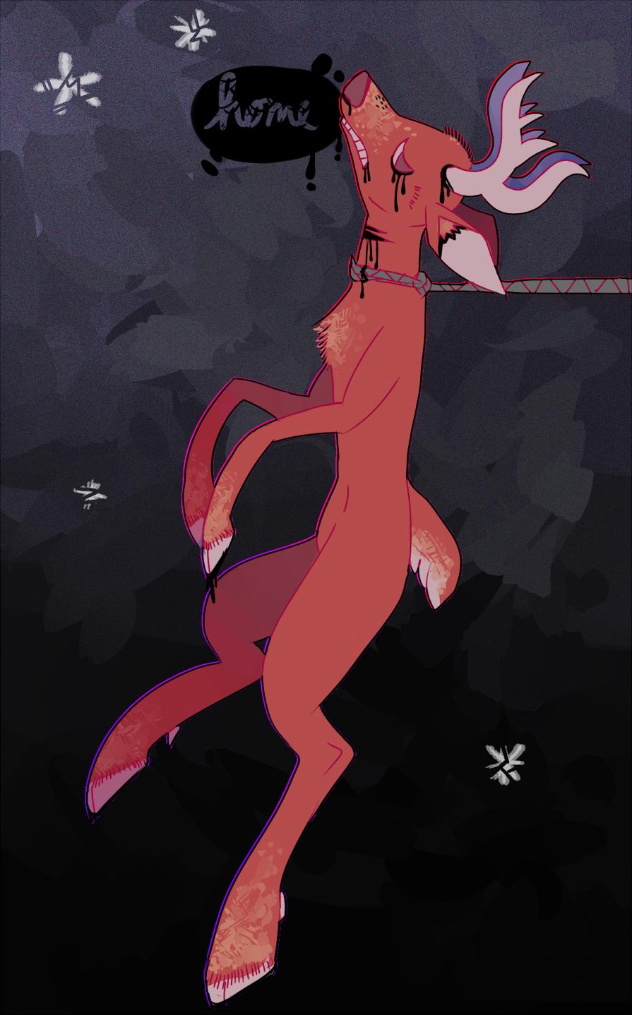I am a Deer Illustration