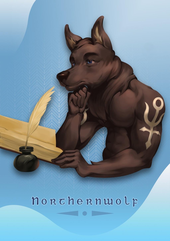 Northernwolf Bookplate 2 [C]