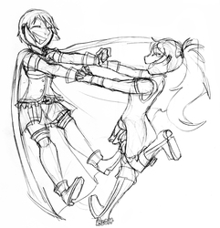 PMM Sketch 1-Red and Blue Cuties
