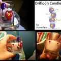 Red Drifloon Candle