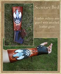 Secretary Bird Leather Arm Guard and Glove