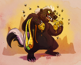 Honeybadger Only Care Bout Snacks